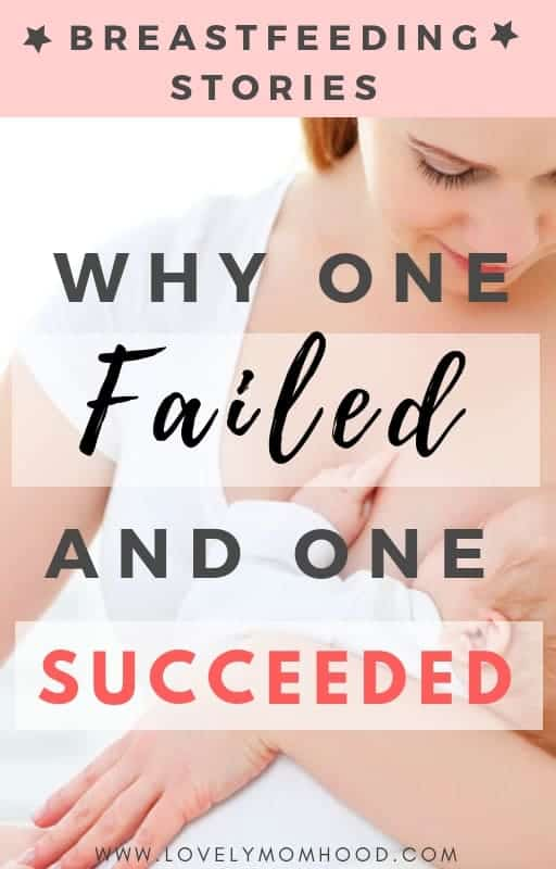 See why one of my breastfeeding stories failed and why one succeeded and use these tips and takeaways to help you in your own breastfeeding journey.