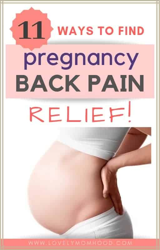 Pregnancy back pain relief