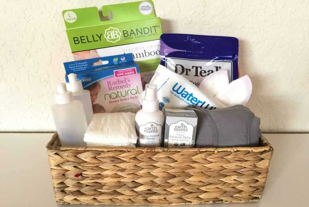 DIY postpartum care kit, all natural and non toxic