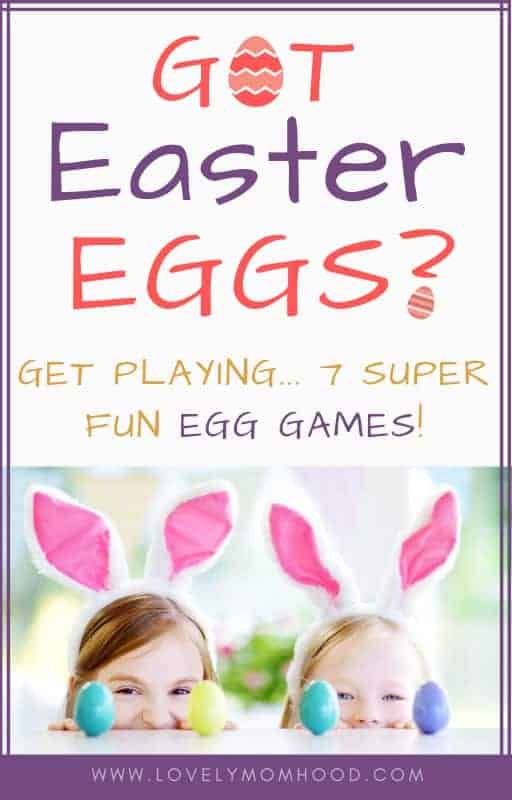 Looking for Easter games to play with the whole family? Here are 7 super fun and super simple Easter egg games that the kids will love! #Easter #Eastereggs #Eastergames #EasterEggGame