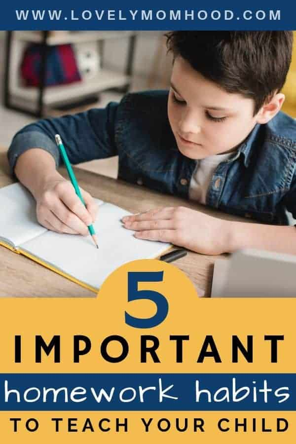 how to help your child develop good homework habits