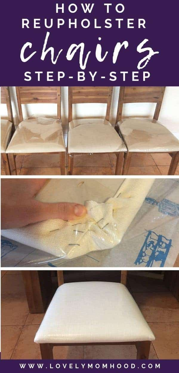 how to reupholster chairs step by step tutorial