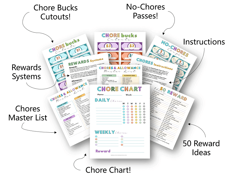 Chore Chart Pintables for Kids