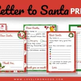 5 Letter for Santa Template Printable, PDF Download
