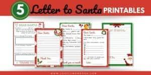 5 Letter for Santa Template Printable, PDF Download
