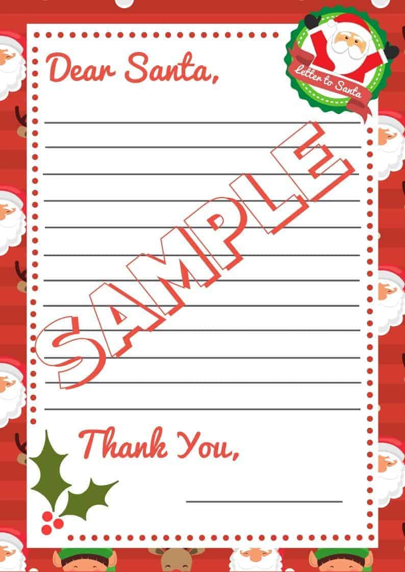 5 Letter To Santa Template Printables Downloadable Pdf