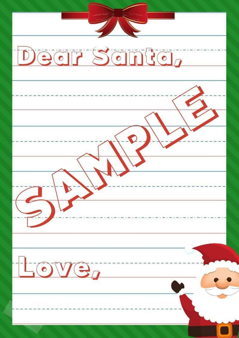 Letter to Santa Template Printable 1