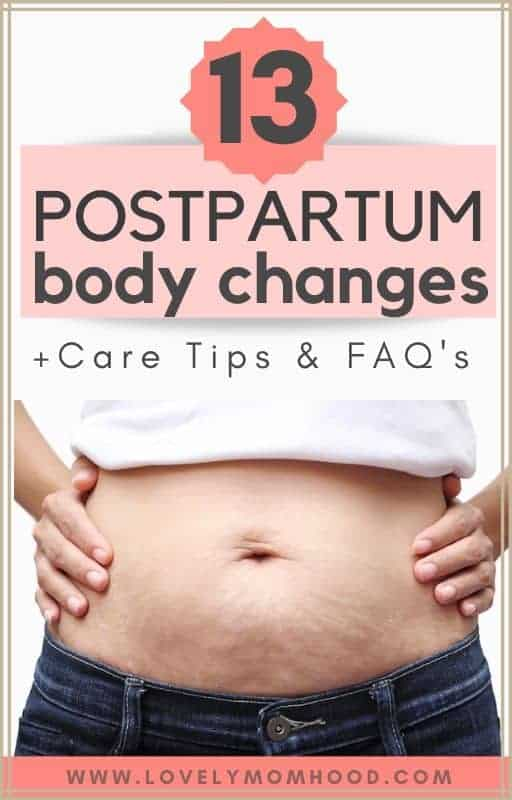 Postpartum body changes and how to care for your body after birth