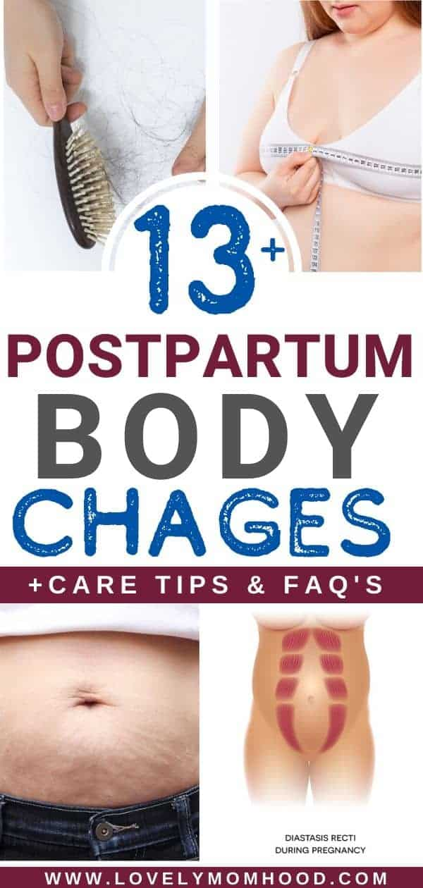 temporary and permanent postpartum body changes
