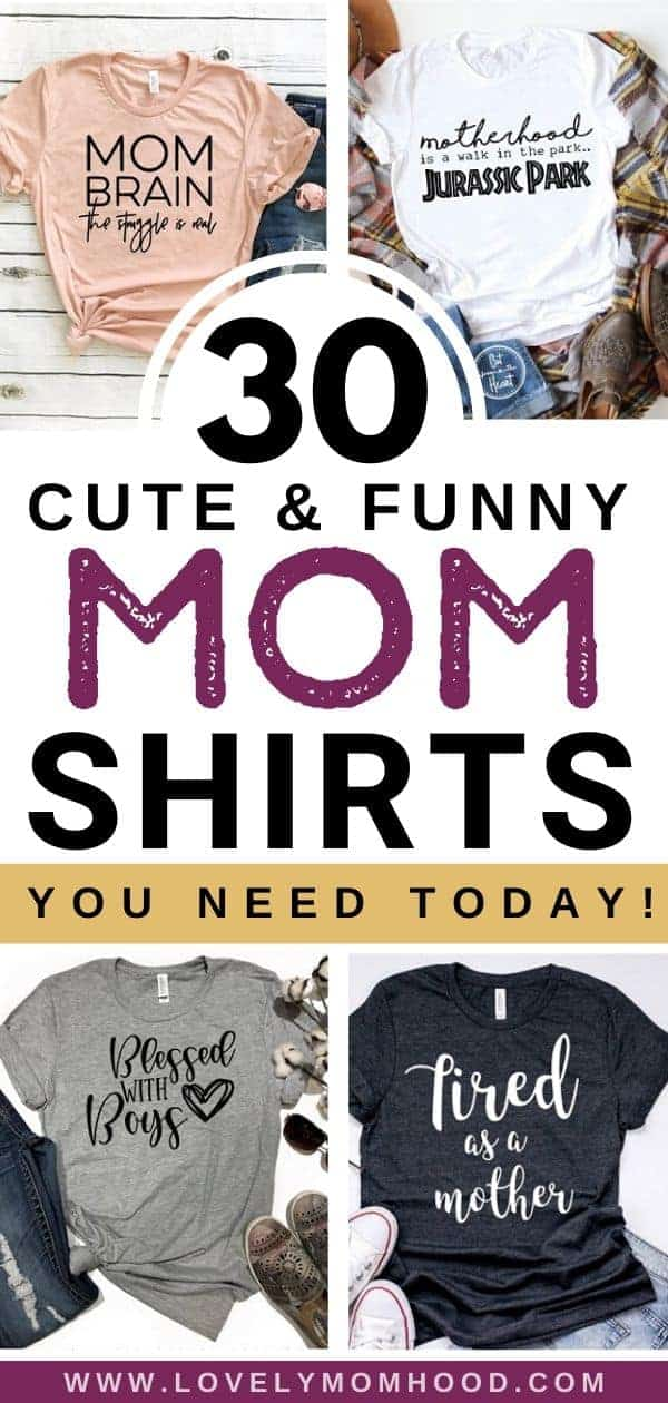 funny mom shirts, cute motherhood shirts, Etsy