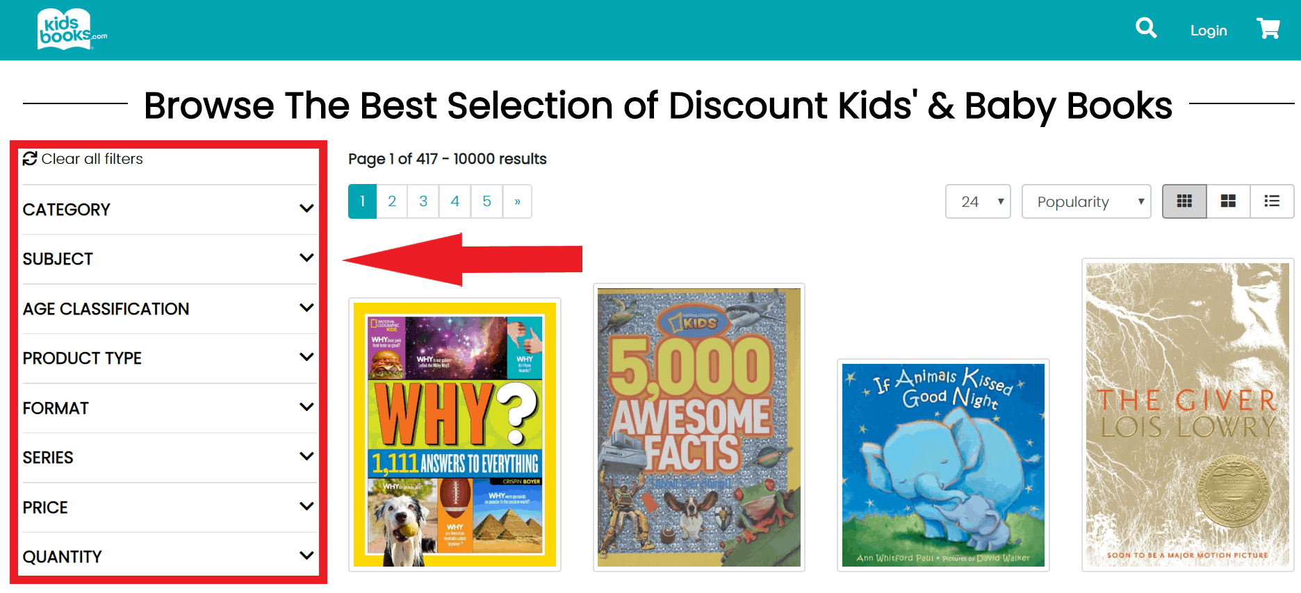 Inexpensive books for kids, kids book home page