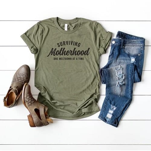surviving motherhood tshirt