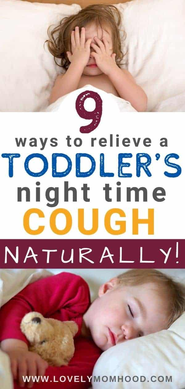 Toddler's night time cough natural remedies