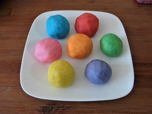Homemade playdough balls