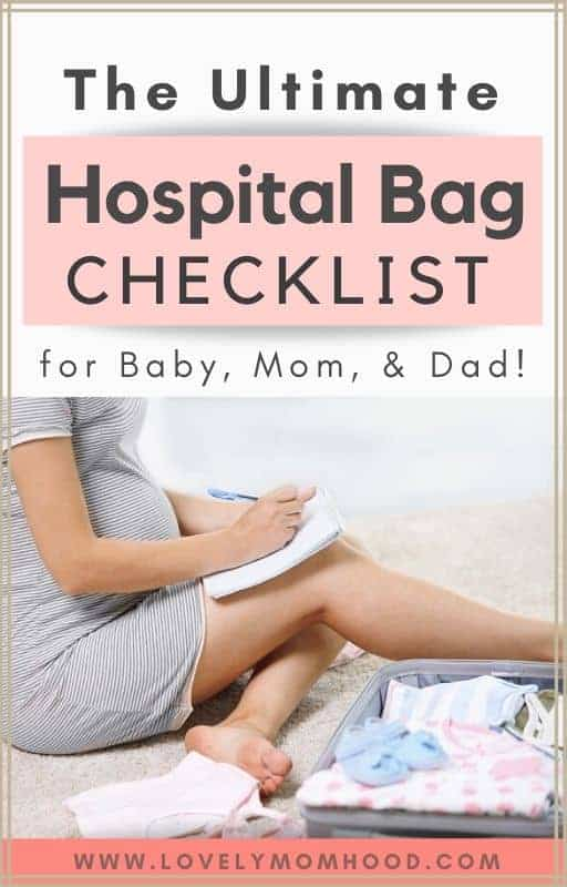 the complete hospital bag checklist for baby, mom, and dad