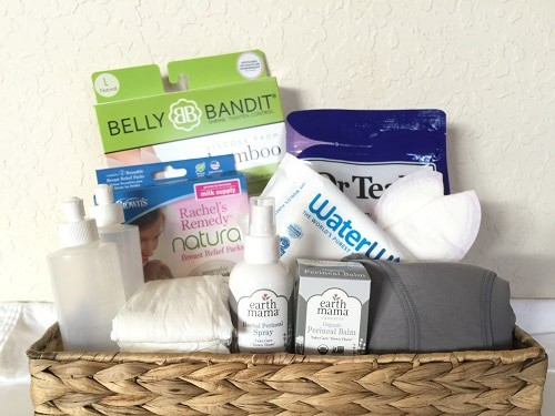 things to do before birth, postpartum care kit