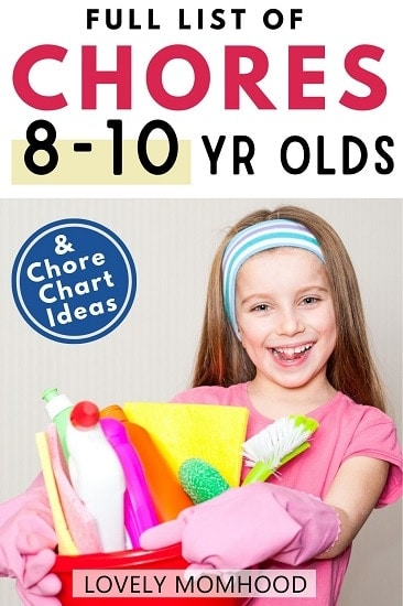 Age appropriate chores for 8-10 year olds