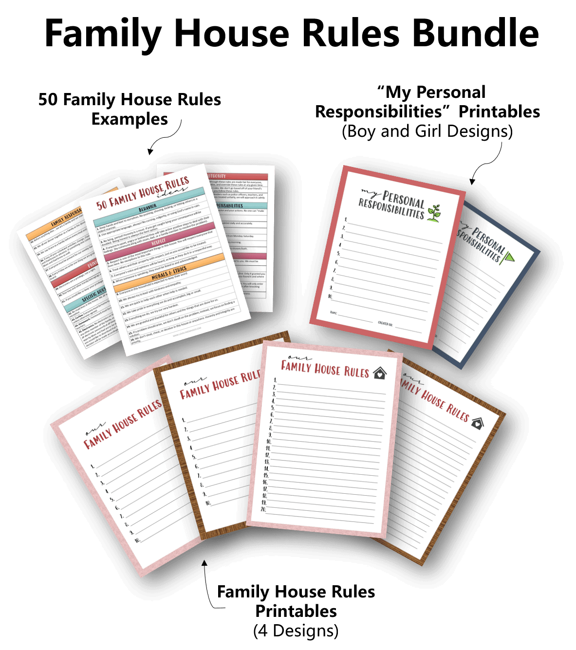 Family House Rules Printable