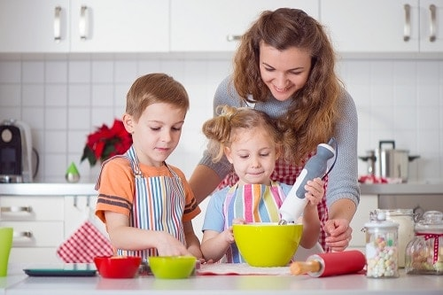 cookie baking and decorating with kids