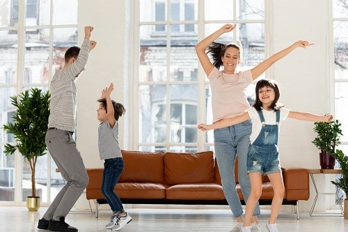 indoor fun with kids, dance party