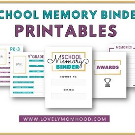 School Memory Binder Printables