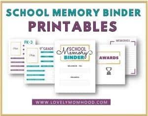 School Memory Binder Printables