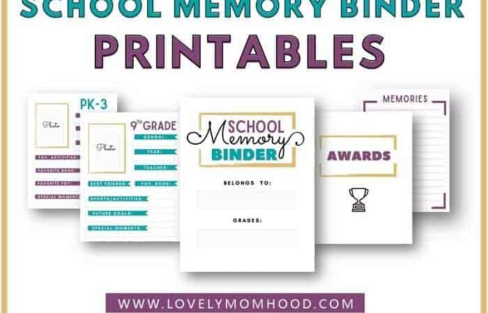 How to Keep School Papers Organized: School Memory Binder (Printables)