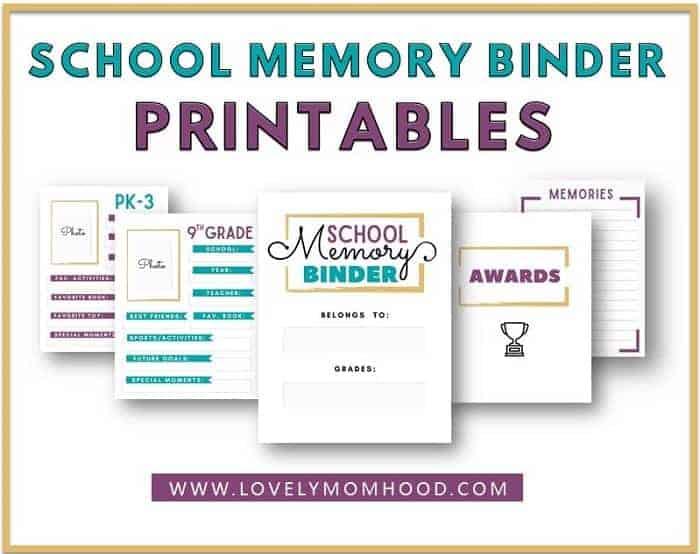 How to Keep School Papers Organized: School Memory Binder (Printables)