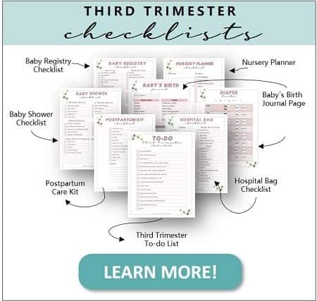 Pregnancy checklists and printables