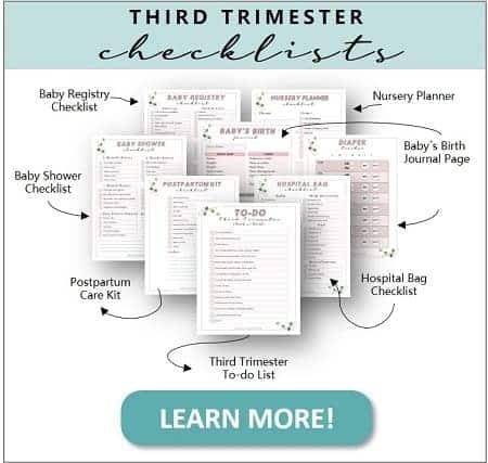 Pregnancy checklists and printables