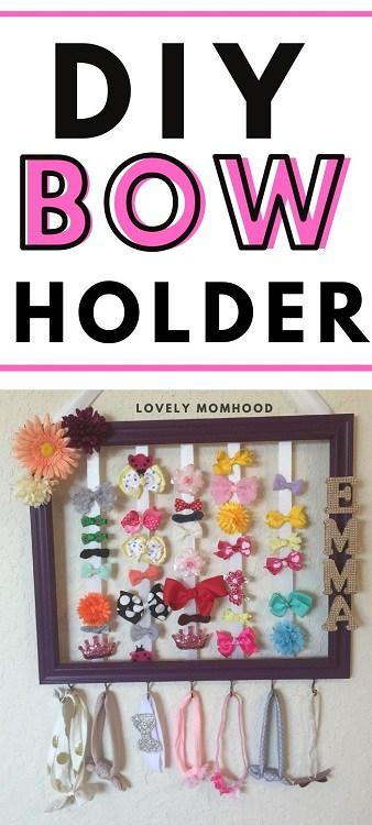 DIY bow holder tutorial