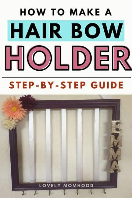 how to make a DIY bow holder
