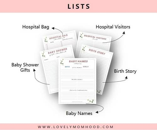 pregnancy Printable List