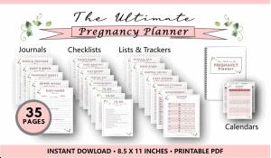 Pregnancy Planner Printable Bundle PDF