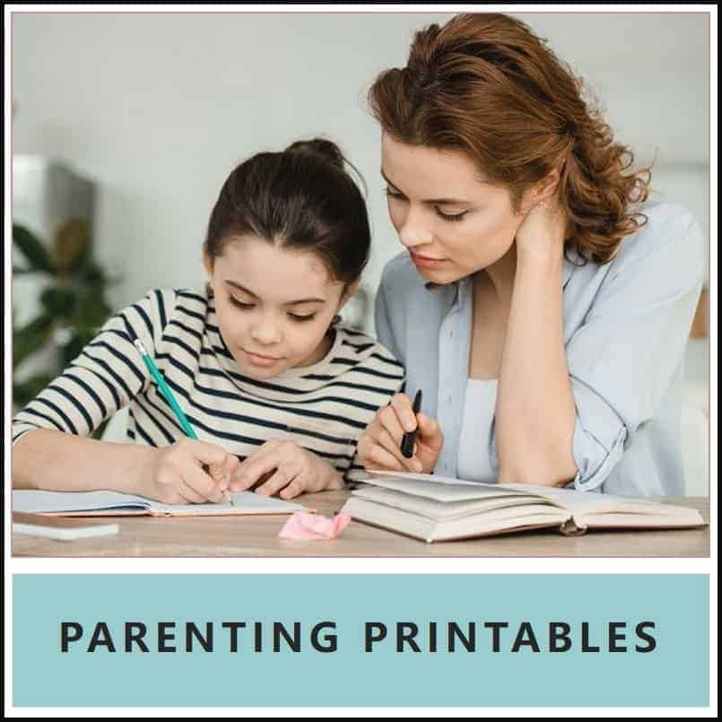 parenting printables