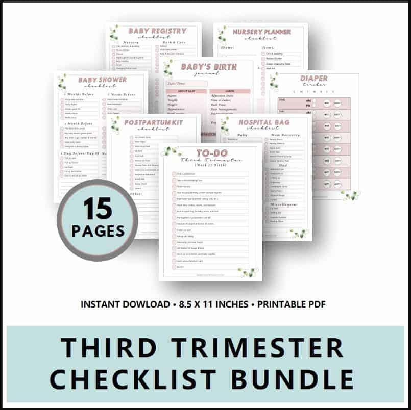 Third Trimester Checklists (Printable Bundle)