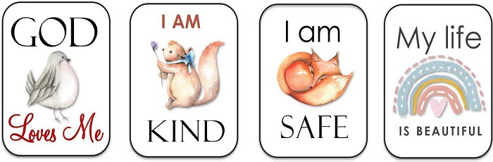 children affirmation cards (printable)