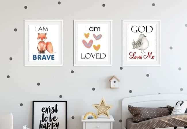 children affirmation wall art