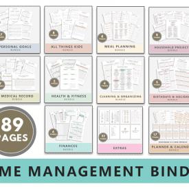 Home Management Binder Printable