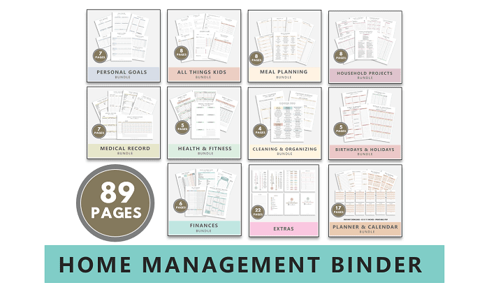 The Ultimate Home Management Binder 2021 (Printable Bundle)