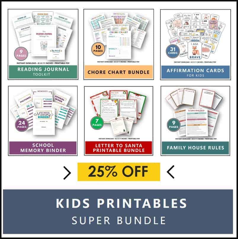 Kids Printables Super Bundle