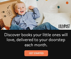 Lillypost book subscription box for kids