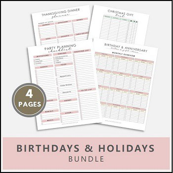 party planning printable, Christmas gift list printable