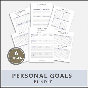personal goals printables