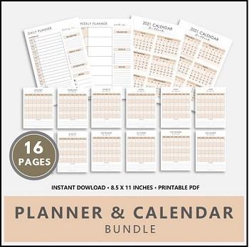 Planner and Calendar Printable