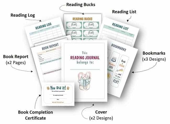 printable reading journal for kids