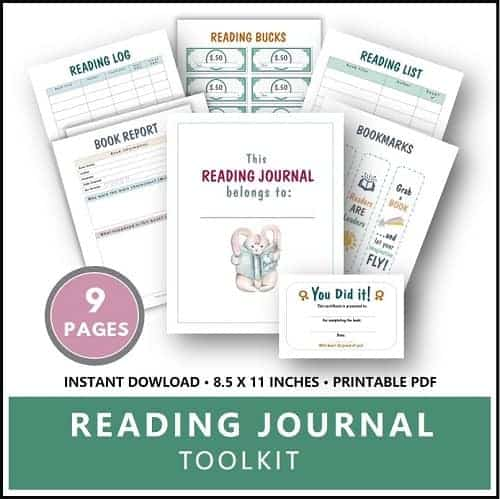 Printable Reading Journal for Kids Toolkit