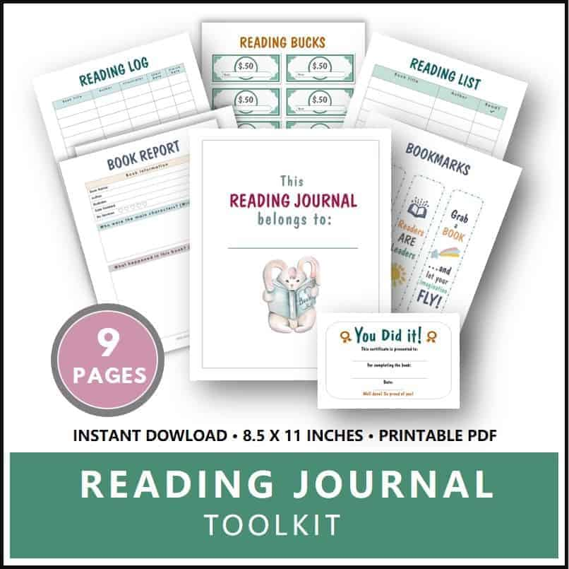 Reading Journal for Kids Printable Toolkit