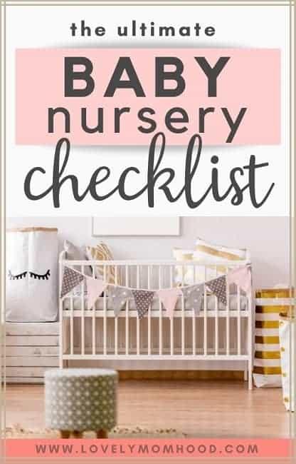 Baby nursery checklist
