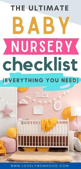 baby room items, baby nursery checklist